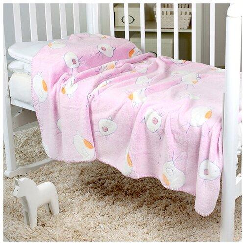 Фото - Плед-покрывало Baby Nice VELSOFT 3D Птичка, 100х150, розовый плед покрывало baby nice velsoft 3d птичка 150х200 бирюзовый