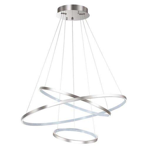 люстра потолочная светодиодная odeon light saturno 114 вт хром Люстра потолочная, светодиодная Odeon Light Saturno, 114 Вт (хром)
