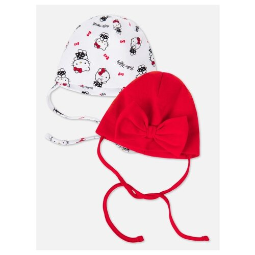 Шапка playToday размер 40, красный/белый платье oodji ultra цвет красный белый 14001071 13 46148 4512s размер xs 42 170