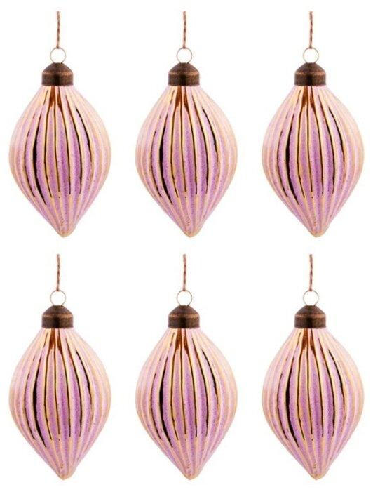Украшение Lefard Набор Винтажные шары 6шт 12cm 864-141