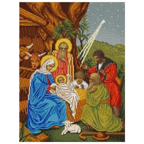 Купить Рождество Христово (рис. на сатене 29х39) 29х39 Конек 9851, Конёк, Канва