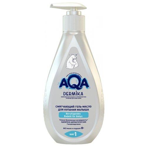 Купить AQA baby Dermika Смягчающий гель-масло для купания малыша 250 мл, Средства для купания