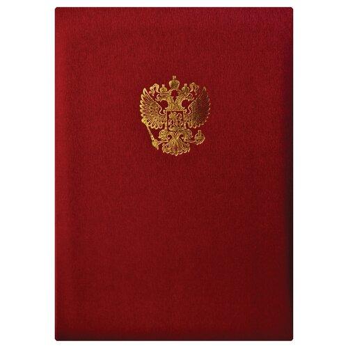 OfficeSpace Папка адресная с гербом А4, балакрон красный officespace папка адресная с гербом а4 балакрон синий