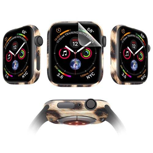 Комплект защитных пленок MOCOLL Apple Watch 44mm для дисплея Глянцевая (2шт) и для корпуса (2шт) Ирбис