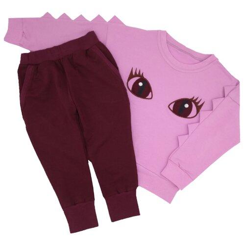 Купить Комплект одежды MilleFaMille размер 92, 98-52, лиловый/бордовый, Комплекты