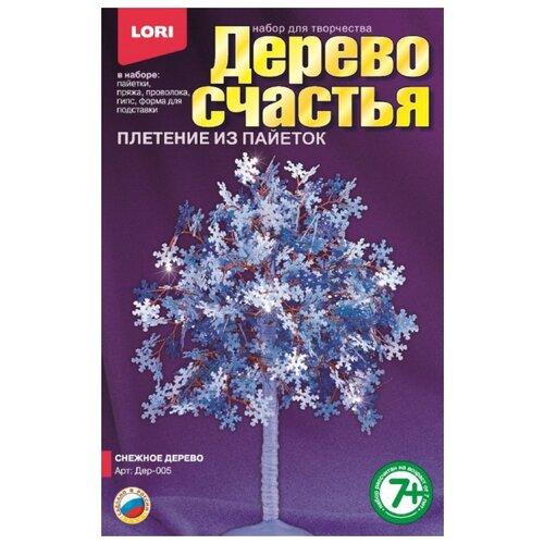 Купить LORI Набор для творчества Плетение из пайеток Дерево счастья. Снежное дерево (Дер-005), Поделки и аппликации