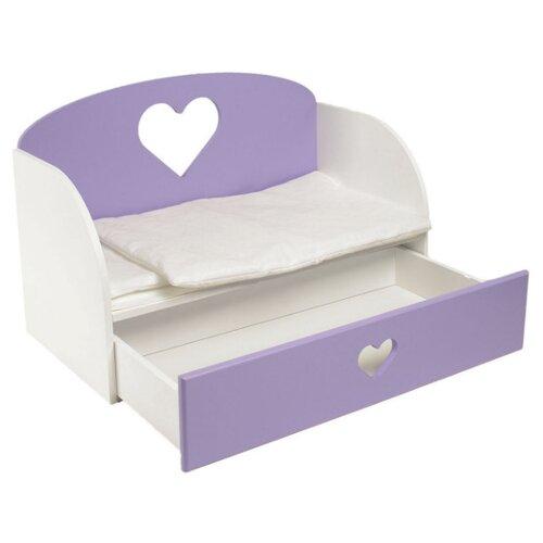 PAREMO Диван-кровать для кукол Сердце (PFD120) сиреневый