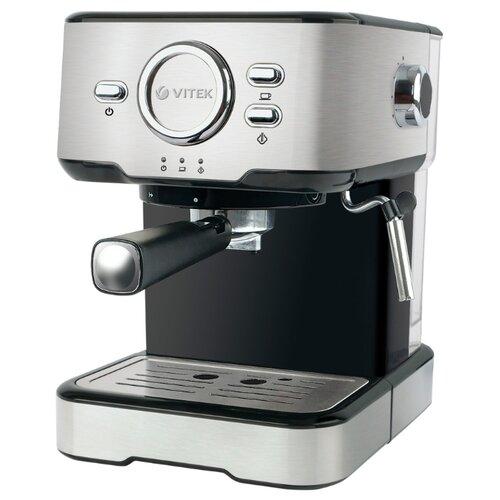 Фото - Кофеварка рожковая VITEK VT-1520, серебристый/черный кофеварка vitek vt 1503