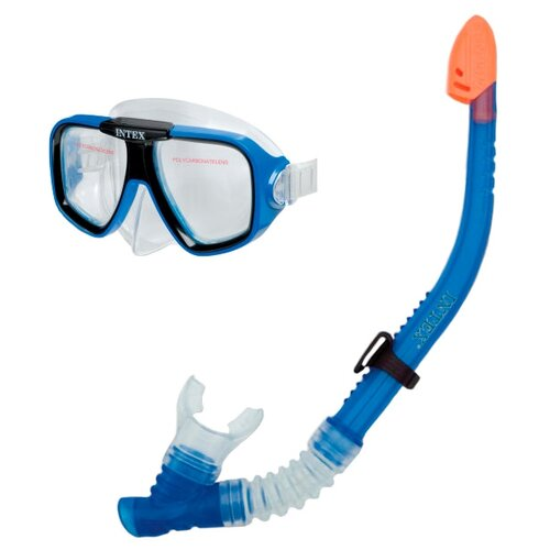 Набор для плавания Intex Reef rider swim 8+ синийМаски и трубки<br>