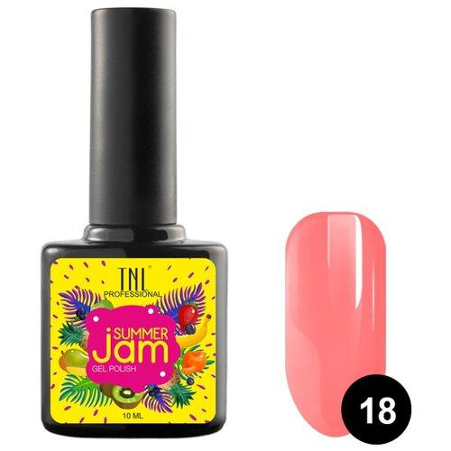 Гель-лак TNL Professional Summer Jam, 10 мл, оттенок 18 неоновый светло-коралловый