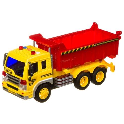 Купить Грузовик BONDIBON Парк техники (ВВ4064) 1:16 27.5 см желтый/красный, Машинки и техника