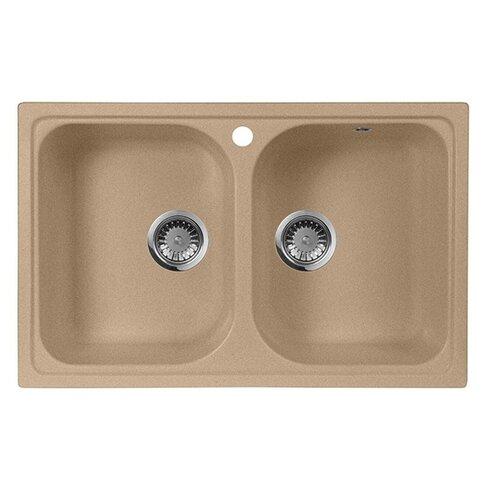 Фото - Врезная кухонная мойка 77.5 см А-Гранит M-15 песочный врезная кухонная мойка 61 см а гранит m 09 песочный