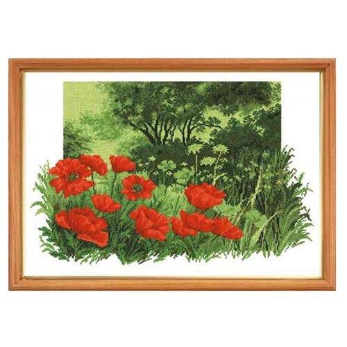 Купить Hobby & Pro Набор для вышивания Лесные маки 24 х 35 см (650), Наборы для вышивания