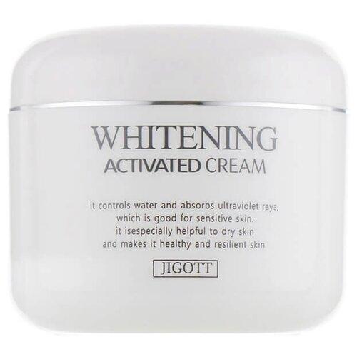 Jigott Whitening Activated Cream Отбеливающий крем для лица, 100 мл аклен отбеливающий крем ахро дерм 50 мл