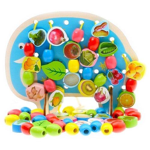 Шнуровка Наша игрушка Слон (800092) голубой/зеленый/красный игрушка