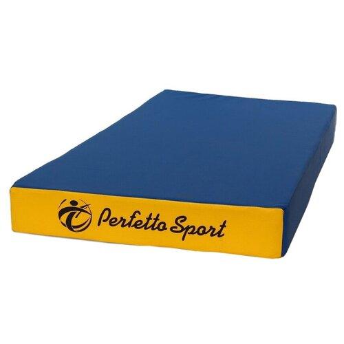 Спортивный мат 1000х500х100 мм Perfetto Sport № 1 сине/жёлтый