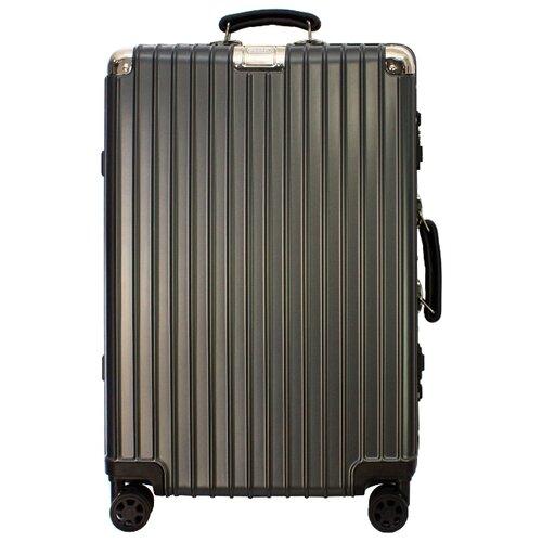 Чемодан PROFFI Business Gentleman M 63 л, графит чемодан proffi business lady m 63 л розовый
