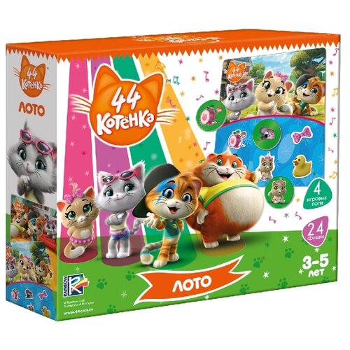 Настольная игра Vladi Toys 44 котенка. Лото VT8055-05 card games vladi toys vt5000 02 boy boys girl girls board game baby kids play