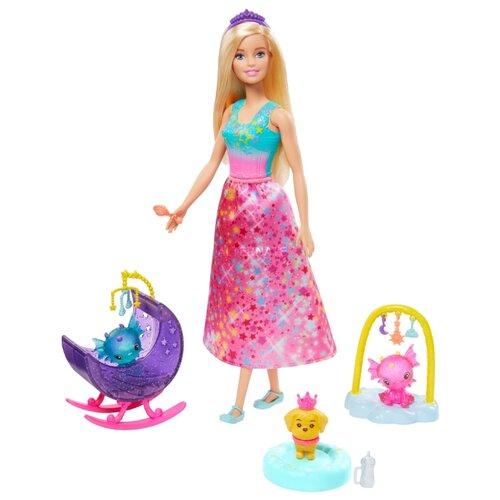 Фото - Кукла Barbie Dreamtopia Заботливая принцесса Питомник драконов, GJK51 кукла barbie dreamtopia