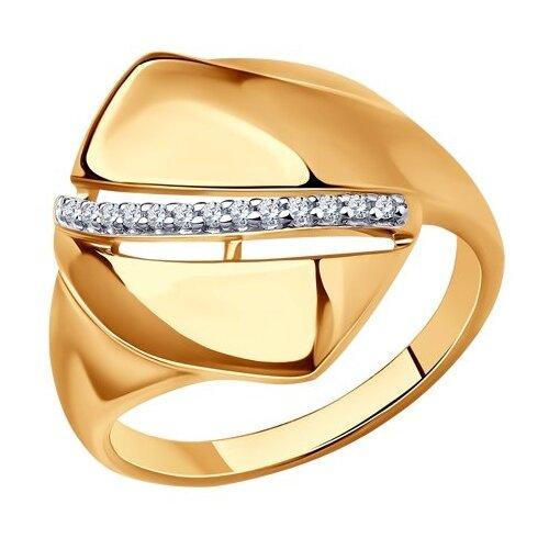 Diamant Кольцо из золочёного серебра с фианитами 93-110-00678-1, размер 17 diamant кольцо из золочёного серебра 93 110 00601 1 размер 17