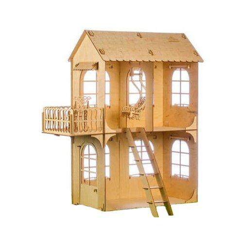 Сборная модель Теремок Кукольный дом средний КД-5 кукольные домики и мебель теремок кукольный дом средний конструктор