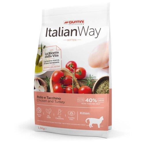 Сухой корм для котят Italian Way с курицей, с индейкой 1.5 кг