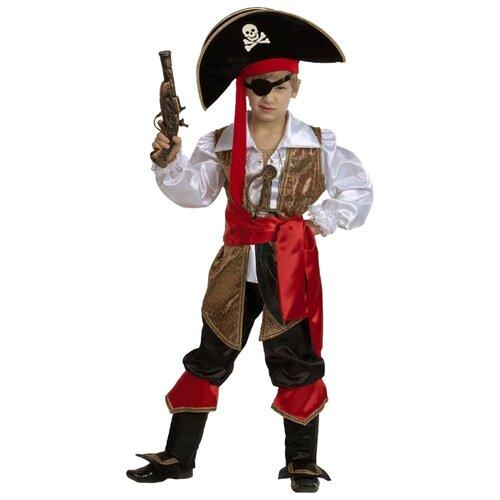 Купить Костюм Батик Капитан Флинт (450), коричневый/черный, размер 146, Карнавальные костюмы