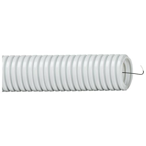 Труба гофрированная ПВХ с зондом TDM ЕLECTRIC 16 мм x 10 м серый серый