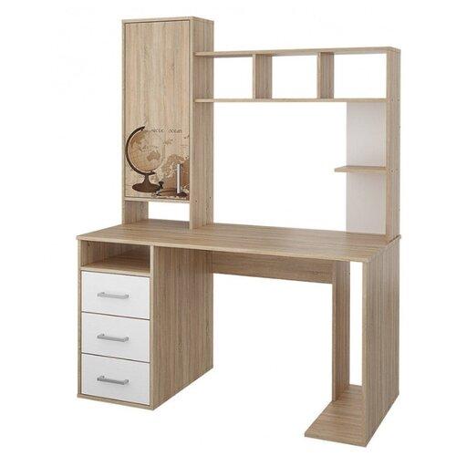 цена на Компьютерный стол Stolline Мика СТЛ.165.16, 137х62 см, цвет: дуб Сонома/белый