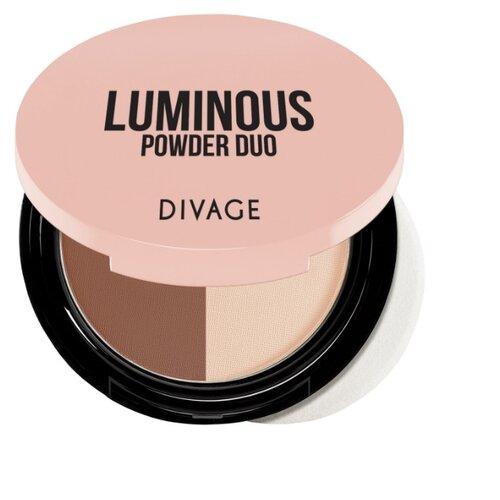 DIVAGE Пудра компактная Luminous Powder Duo 02 divage velvet пудра компактная двухцветная тон 02 9 гр
