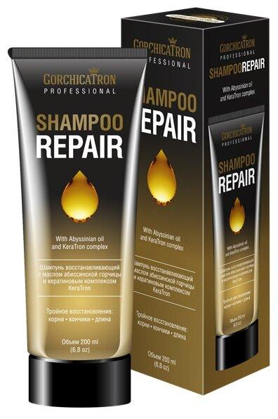 Corchicatron Professional шампунь Repair восстанавливающий с маслом абиссинской горчицы и кератиновым комплексом