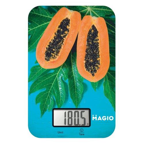 Кухонные весы Magio МG-790 голубой/зеленый/оранжевый кухонные весы magio mg 797