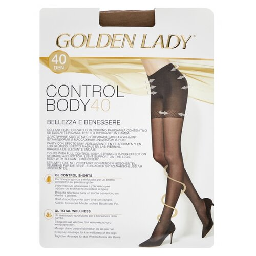 Колготки Golden Lady Control Body 40 den, размер 2-S, daino (бежевый) колготки glamour thin body 40 den размер 2 s daino бежевый