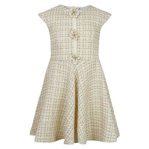 Купить Платье David Charles размер 134, кремовый/золотой, Платья и сарафаны