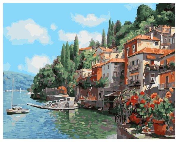 Купить Картины по Номерам на Холсте 40 х 50 см Пейзаж - Берег моря Холст на Подрамнике по низкой цене с доставкой из Яндекс.Маркета (бывший Беру)