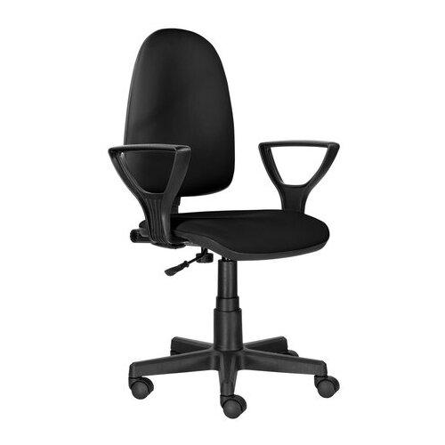 Компьютерное кресло Brabix Prestige Ergo MG-311 офисное, обивка: искусственная кожа, цвет: черный компьютерное кресло brabix nitro gm 001 игровое обивка искусственная кожа цвет черный