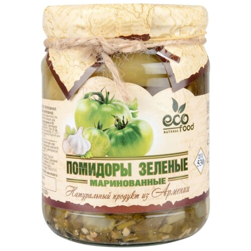 Помидоры зеленые маринованные Armenia Ecofood стеклянная банка 530 г