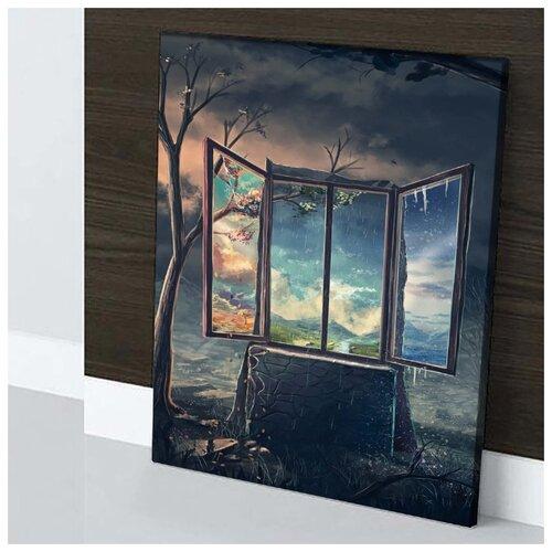 Картина Погода Изменчива 40х60 см. натуральный холст