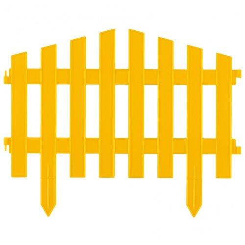 Забор декоративный PALISAD Марокко, желтый, 3 х 0.28 м