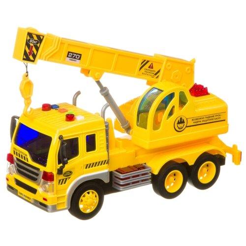 Купить Автокран BONDIBON Парк техники Кран-погрузчик (ВВ4065) 27.5 см желтый, Машинки и техника
