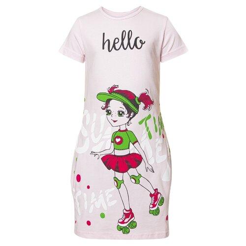 Платье M&D размер 134, светло-розовый