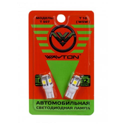 Лампа автомобильная светодиодная Wayton 1109004 T507 Т10 (W5W) 4W 2 шт. лампа автомобильная накаливания philips 12594cp p21 4w 21 4w 1 шт
