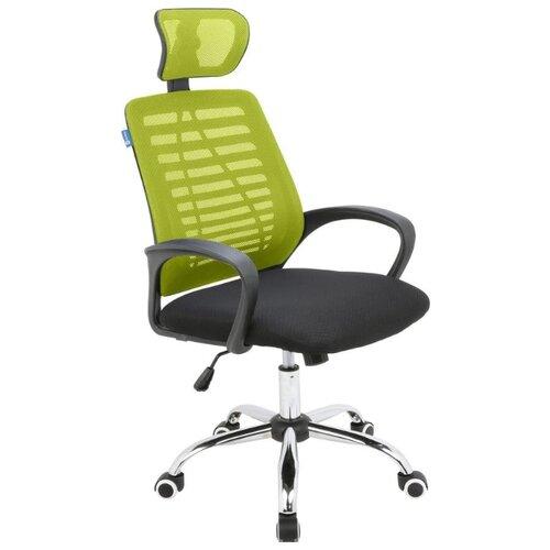 Кресло для руководителя Alsav кресла AL 777, обивка: текстиль, цвет: ткань черная/сетка зеленая