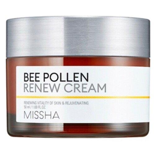Купить Missha Bee Pollen Renew Cream восстанавливающий крем для лица с экстрактом пчелиной пыльцы, 50 мл