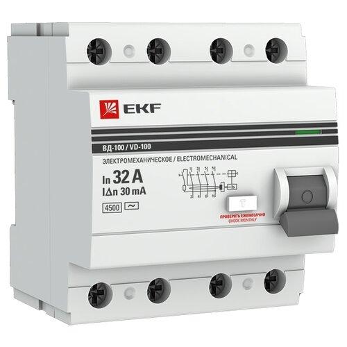 УЗО EKF 30мА тип AC ВД-100 4 полюса 32 А