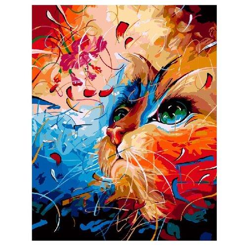 Купить ВанГогВоМне Картина по номерам Кот в абстракции , 40х50 см (ZX 20135), Картины по номерам и контурам