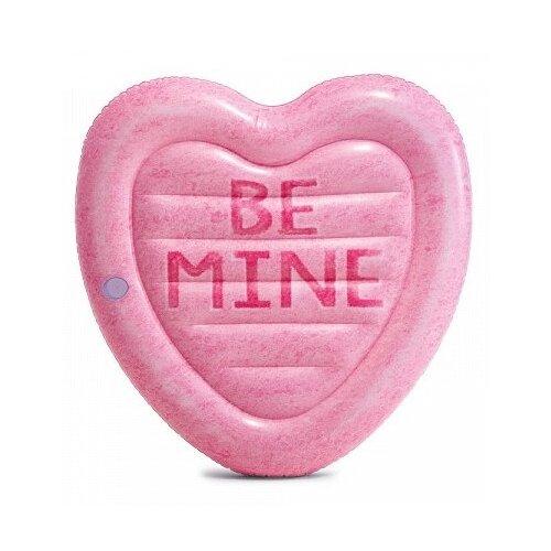 Матрас Intex Карамельное сердце 142x145 см розовый