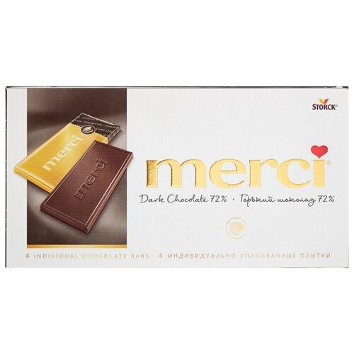 Шоколад Merci горький порционный, 100 г