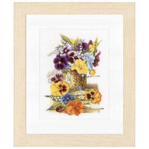 Купить Lanarte Набор для вышивания Pot of Pansies (Анютины глазки) 23 х 30 см (PN-0154464), Наборы для вышивания