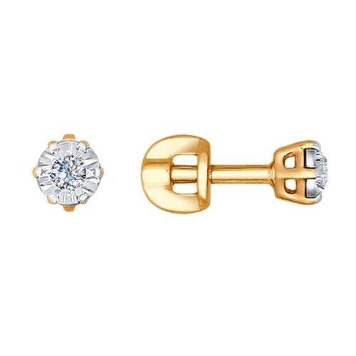 SOKOLOV Серьги-гвоздики из комбинированного золота 1021098